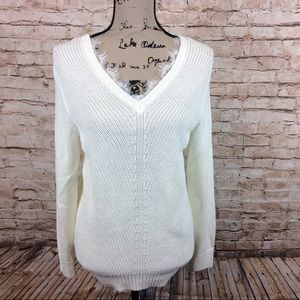 New Magaschoni Sweater With Lace Detail XS